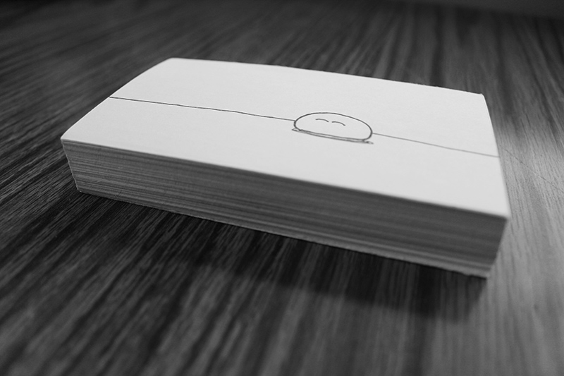 Bounce Card Stack, flip book animation