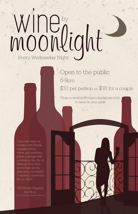 Wine by Moonlight graphic design