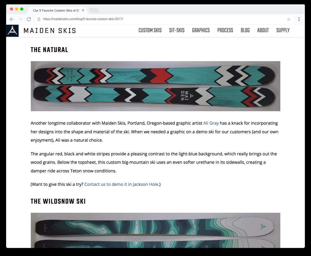 Ski Topsheet Designs Graphic Design I Am Ali Design